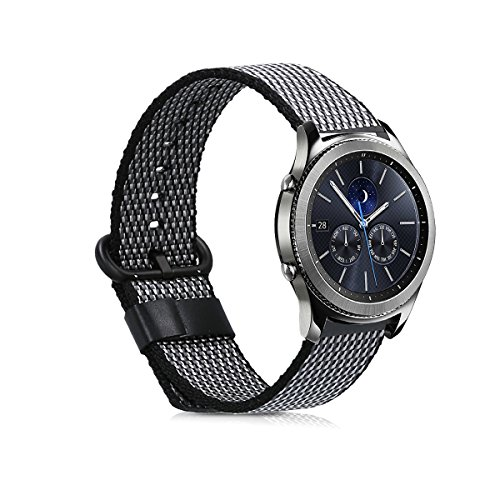 kwmobile Bracelet for Samsung Gear S3 Classic/Frontier - Nylon Watch Band Fitness Wristband in anthracite by kwmobile