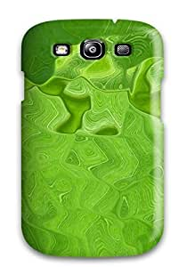 Hard Plastic Galaxy S3 Case Back Cover,hot Green Glass Case At Perfect Diy