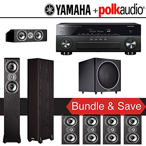 Polk audio tsi 400 7 1 ch home theater system with yamaha for Yamaha 7 2 home theatre system