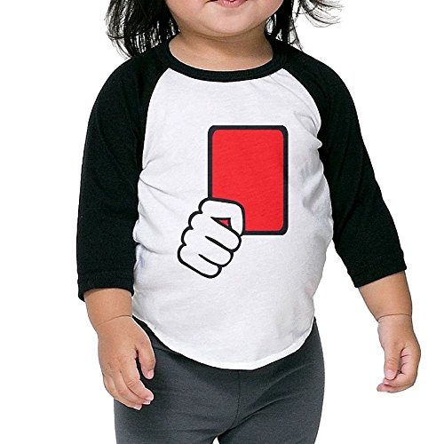 Custom Mascot Costumes Design (Red Card Referee Kid's Sleeve Raglan Clothes Unisex 3 Toddler Design)
