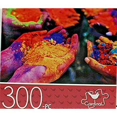 Cardinal Jigsaw Puzzles for Adults Kids 300 Piece 14 in. x 11 in. Hands with Powder: Toys & Games
