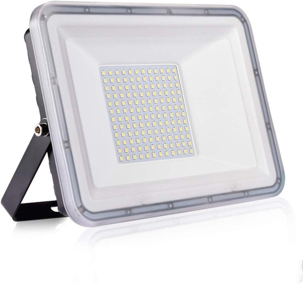 100W Proyector LED exterior IP67 Impermeable Foco exterior 10000 lumen Blanco frío 6500K Iluminación Led Floodlight para Jardín Garaje Balcón Césped[Clase de eficiencia energética A++]