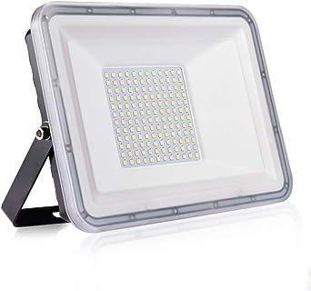 100W Proyector LED exterior IP67 Impermeable Foco exterior 10000 lumen Blanco frío 6500K Iluminación Led Floodlight para jardín garaje estacionamiento almacén Iluminación del paisaje: Amazon.es: Iluminación