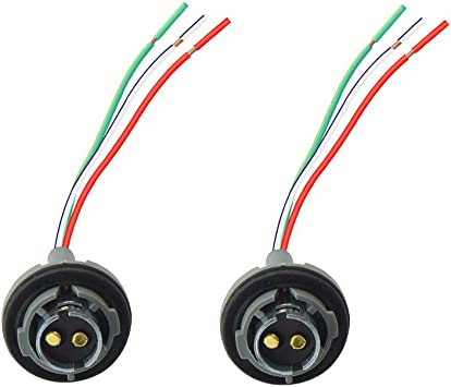 1pcs 1157 BAY15D LED Light Bulb Socket Holder with Wire Connector for Car Truck Light Weight Easy to use