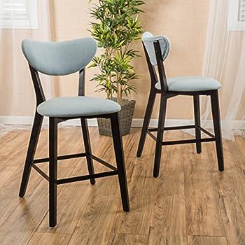Amazon Com Faria Ocean Fabric Counter Height Chair Bar