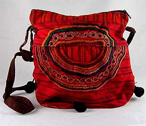 Guatemalan Shoulder Bag - Red Guatemalan Embroidered Shoulder Bag