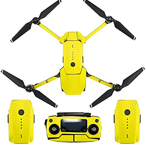 Skin for DJI Mavic Pro Waterproof Carbon Fiber Decorative Sticker Decal Skin Wrap Cover Kit Drone Body, Remote Controller, Battery and Arms by Shiloh-E Tech (Pure - Tech Station Kit