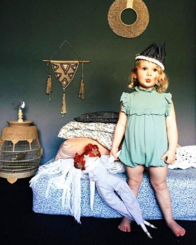 Fiomva Newborn Baby Girl 2PCS Autumn Clothes Set Romper Jumpsuit One-Piece Outfits