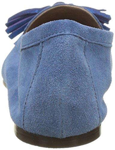 Bensimon Mocassin Pompon, Mocasines para Mujer Azul (Bleu)