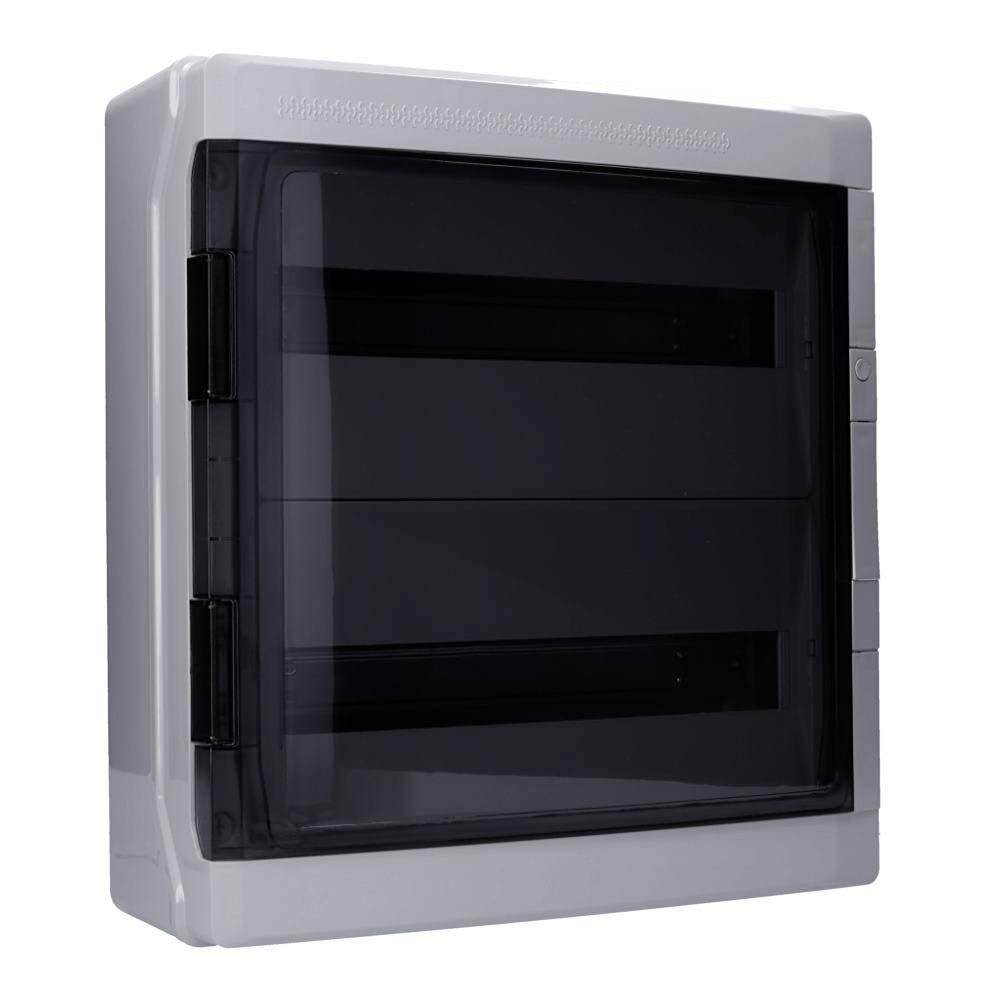 T/ür transparent Aufputz Feuchtraum Verteiler Pro 3-reihig IP65 54 Module Verteilerkasten Kleinverteiler Sicherungskasten