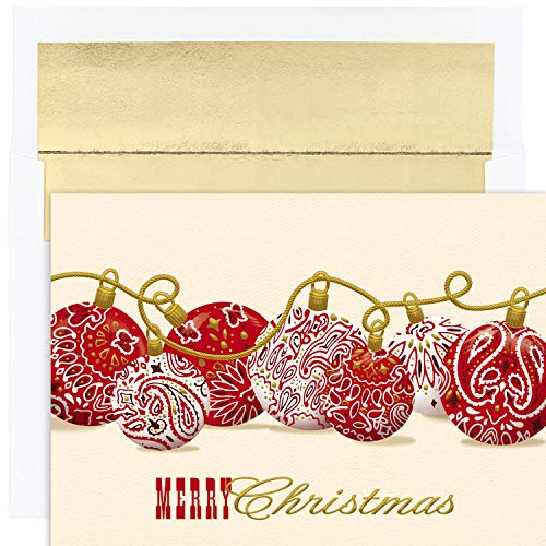 Masterpiece Warmest Wishes 18-Count Christmas Cards, Bandana Ornaments ()