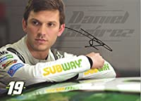 AUTOGRAPHED 2017 Daniel Suarez #19 Subway Racing (Joe Gibbs Team) Monster Energy Cup Series Signed Collectible Picture NASCAR 5X7 Inch Hero Card Photo with COA from Trackside Autographs