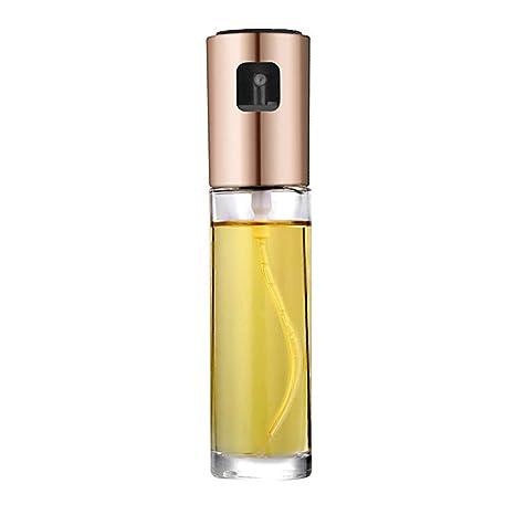 Spray de aceite, dispensador de aceite de oliva vinagre, botella de cristal de 100