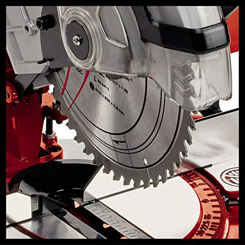 Einhell UK TC-MS 2112 1600 W Compound Mitre Saw with 5000 rpm Cutting Speed - Red
