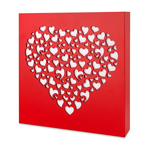 KAUZA Heart Sign Valentines Day Wooden Signs I Love You Gift