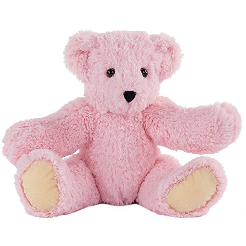 Cuddly Pink Teddy Bear - Vermont Teddy Bear Amazon Exclusive Soft Cuddly Bear Stuffed Animals and Teddy, Pink, 15 Inches
