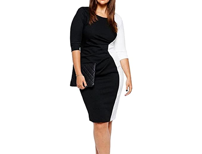 Sportsx Women Spell Color Exotic Stitching Plus Size Sexy Pencil