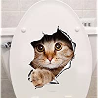 -Homeworld- Großer Katzen-Aufkleber mit 3D Effekt, 21x29cm, perfekt für WC Toilettendeckel, den Kühlschrank und verschiedene weiße Möbel. Tolles Geschenk für Katzenliebhaber! #8