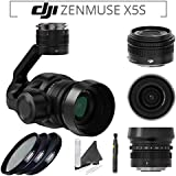 DJI Zenmuse X5S Camera and Gimbal with DJI MFT 15mm,F/1.7 ASPH Prime Lens for DJI Inspire 2 Quadcopter & PolarPro Filter Kit (UV,CPL,ND8 3-Stop) & Lens Pen & eDigitalUSA Microfiber Cleaning Cloth