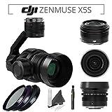 DJI Zenmuse X5S Camera and Gimbal with DJI MFT 15mm,F/1.7 ASPH Prime Lens for DJI Inspire 2 Quadcopter & PolarPro Filter Kit (UV,CPL,ND8 3-Stop) & Lens Pen & eDigitalUSA Microfiber Cleaning Cloth