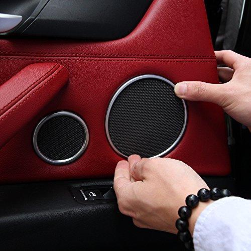 6pcs coche puerta Audio Altavoz Cuerno Anillo embellecedor de decoración adhesivo para X5 F15 - X6 F16 2014 2015 2016 2017 accesorios: Amazon.es: Coche y ...