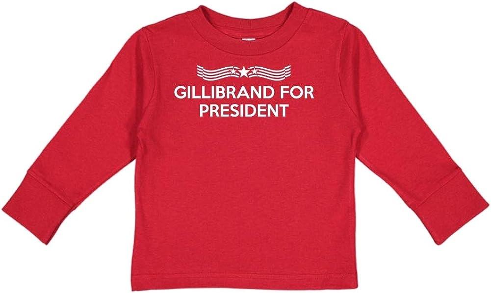 Presidential Election 2020 Toddler//Kids Long Sleeve T-Shirt Star Banner Gillibrand for President