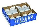 CERERIA di Giorgio risthò Ball, Wax Candles, White, 4.5x 4.5x 4.5cm, 12Units