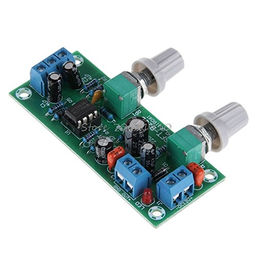 PrinceShop - DC 10-24V Low-pass Filter Bass Tone Subwoofer Pre-Amplifier Preamp Board ()