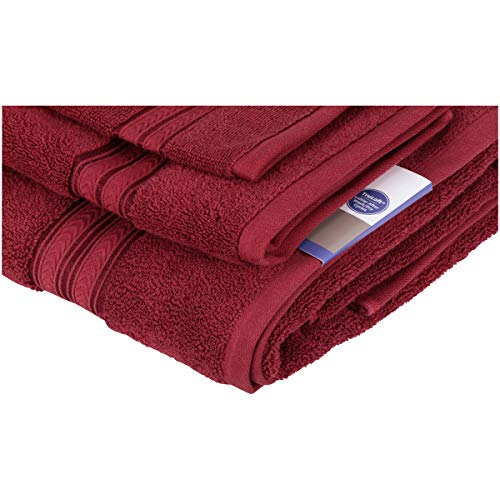 Better Homes and Gardens.. Thick and Plush 6-Piece Cotton Bath Towel Set (Rose Wine)