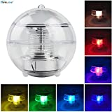 ELINKUME Solar Pool Lights,Waterproof LED Colorful Changing Solar Floating Light for Swimming Pool,Garden and Party Decor Outdoor Pond Path Landscape Light (Solar Floating Light)