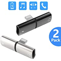 Bojuren Phone Headphone Adapter, Charger and Headphones Splitter Dongle Compatible with iPhone 7 8 Plus X XS Max XR 11 Pro Max