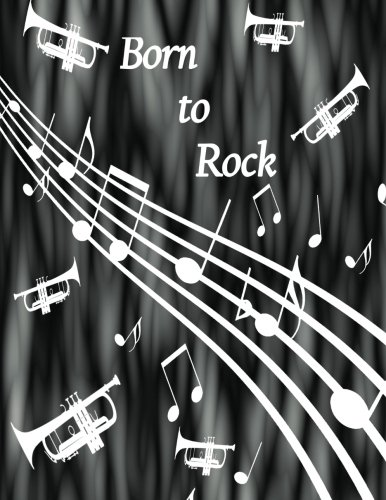 Born to Rock - Trumpet Composition Journal: Black and White Fog - Student Notebook - 100 College Ruled Pages (Trumpet Rock)