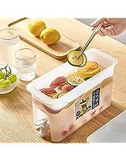 Drank Drink Dispenser, Fruit Cool Water Pitcher Zomer Ijswater Infuser Waterkoker met Spigot, Koelkast Drink Dispense Sap Container, 3,5 L