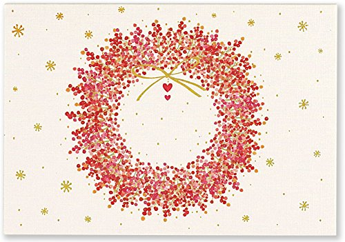 Winterberry Wreath Small Boxed Holiday Cards (Christmas Cards, Greeting Cards)