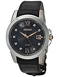 Seiko Men's SNE427 Analog Display Japanese Quartz Black Watch
