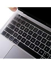 EooCoo Ultradunne toetsenbordbescherming compatibel met 2020 MacBook Pro 13 inch M1 A2338 A2289 A2251 met Touch Bar en Touch ID, QWERTZ EU-lay-out, TPU Clear