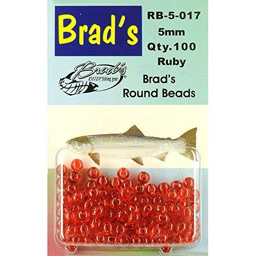 Brad's Round Beads - Ruby, 6mm, 75 pack