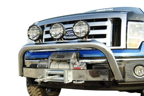 Westin 46-70020 Polished Faceplate for MAX Winch Mount Tray (Ford Steel Drill Stainless)