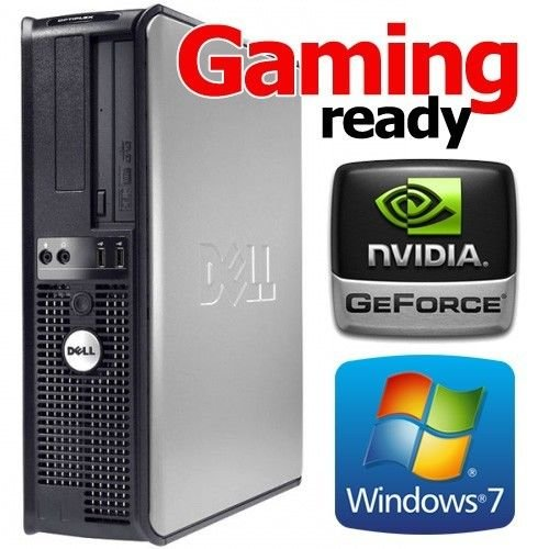 Price comparison product image Custom Dell 1GB NVIDIA HDMI Gamer Tower Quad Core 8GB 1TB WiFi Desktop PC Computer Windows 7 Pro