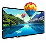150 Inch Portable Projector Screen, TOUMEI 16:9 Foldable Outdoor Front Movie Screen, Lightweight, Folding Movie Screen for Camping/Home Theater/Education/Office Presentation