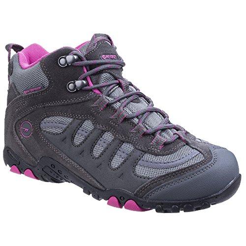 Hi-Tec - Botas de montaña impermeables modelo Penrith para mujer Carbón/ciclamen