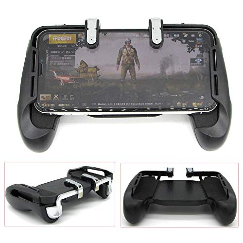 Price comparison product image Pausseo Mobile Game Controller Aiming Triggers Compatible Sniper Game,PUBG/Fornite/Knives Out/Rules of Survival,Shooter Trigger Fire Button&Handle,Fits for 4.5-6.5inch Phone-Upgraded Edition Black