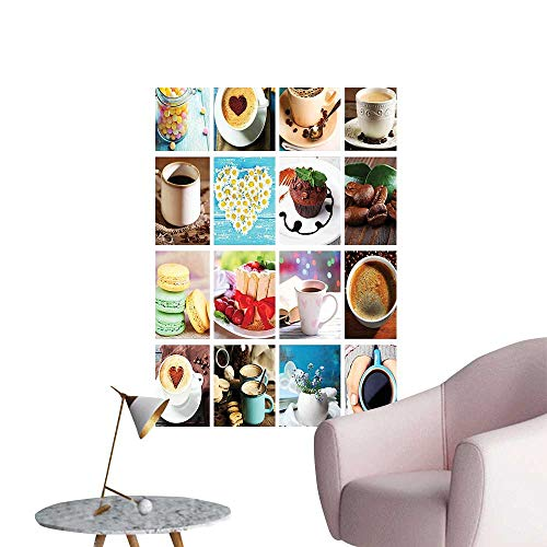 Modern Decor Different Photos fee Cups Cake Macar Tasty Food Dr ks Multicolor Ideal Kids Decor or Adults,24