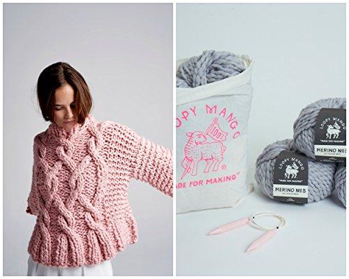 Loopy Mango DIY Kit - MEDIUM/LARGE Urban Fisherman Sweater (Key Lime) by Loopy Mango