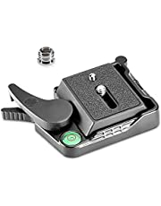 """Neewer® Black Aluminum Alloy Quick Release QR Plate Adapter with 1/4""""-3/8"""" Screw and Bubble Lever for DSLR Camera Tripod Monopod Stabilizer Ball Head"""