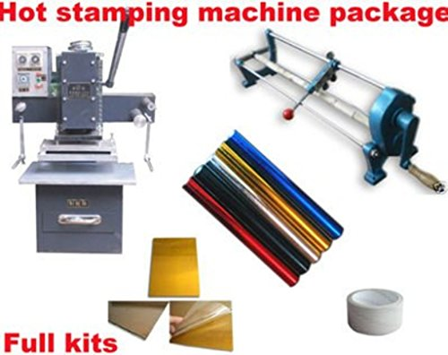 Professional Hot Foil Stamping Machine Business Start up Full Kits. Foil Stamper Printer-PCT-65 by Dingword