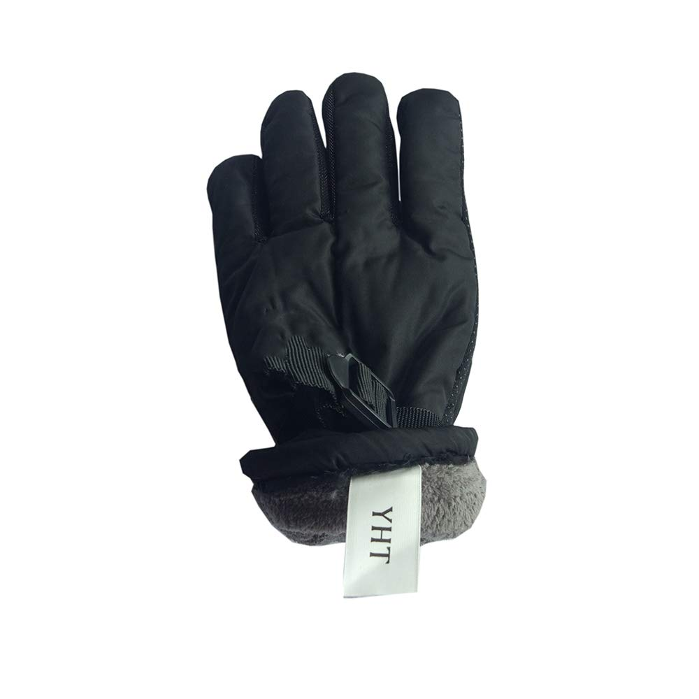 YHT Waterproof Ski Snowboard Gloves with button, Air Vent, Cold Weather Gloves for Men