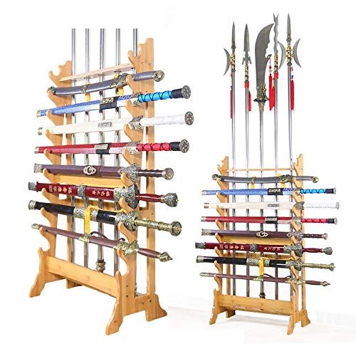 Everythingwushu Multi-Use Wushu Long Weapon Racks Sword Stands Martial Arts Swords Stands