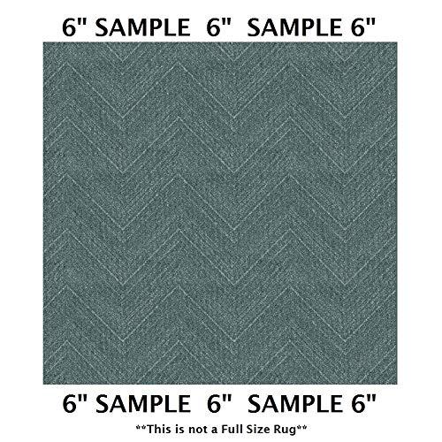 Koeckritz Rugs Sample Swatch - Lagoon, Milliken Carpet - DREAMROOM Chevron Pattern | Designers Dream Collection, Stainmaster Nylon