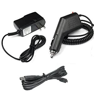 Garmin GPS GPSMAP 62s Accessory Bundle - Car Charger + Home Travel AC Charger + USB Data Cable